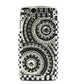 Round bling crystals cases covers for Sony Ericsson Xperia Arc LT15I X12 LT18i - Black