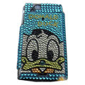 Ugly Duckling bling crystals cases covers for Sony Ericsson Xperia Arc LT15I X12 LT18i - Blue