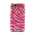 Zebra bling crystals cases covers for Sony Ericsson Xperia Arc LT15I X12 LT18i - Red