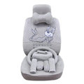 OULILAI Pudding dog Auto Car Front Rear Seat Covers Plush Universal 19pcs - Gray