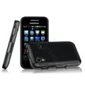 Imak Ultrathin Jelly Cases Covers for Samsung Galaxy Ace S5830 i579 - Black (Screen protection film)
