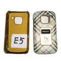 LV Louis Vuitton leather Cases Luxury Holster Covers for Nokia E5 - White