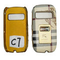 BURBERRY leather Cases Luxury Holster Covers for Nokia C7 - Beige
