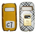 BURBERRY leather Cases Luxury Holster Covers for Nokia C7 - White