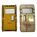 Burberry leather Cases Luxury Holster Covers for Nokia N8 - Beige