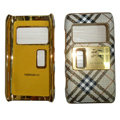 Burberry leather Cases Luxury Holster Covers for Nokia N8 - White
