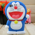 Cartoon Doraemon 3D Silicone Cases Skin Covers for iPhone 4G/4S - Blue