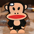 Cartoon Paul Frank 3D Silicone Cases Skin Covers for iPhone 4G/4S - Black
