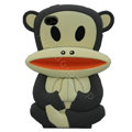 Cartoon Paul Frank 3D Silicone Cases Skin Covers for iPhone 4G/4S - Gray