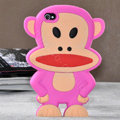 Cartoon Paul Frank 3D Silicone Cases Skin Covers for iPhone 4G/4S - Rose