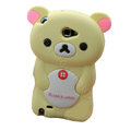 Cartoon Rilakkuma Silicone Cases Covers Skin for Samsung Galaxy Note i9220 N7000 - Beige
