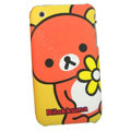 Cartoon Rilakkuma Silicone Cases Covers Skin for iPhone 3G/3GS - Orange