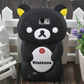 Cartoon Rilakkuma Silicone Cases Skin Covers for Samsung Galaxy Note i9220 N7000 - Black