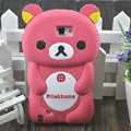 Cartoon Rilakkuma Silicone Cases Skin Covers for Samsung Galaxy Note i9220 N7000 - Pink
