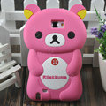 Cartoon Rilakkuma Silicone Cases Skin Covers for Samsung Galaxy Note i9220 N7000 - Rose
