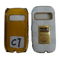 GUCCI leather Cases Luxury Holster Covers for Nokia C7 - White