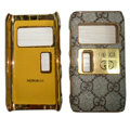 Gucci leather Cases Luxury Holster Covers for Nokia N8 - Brown