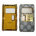 Gucci leather Cases Luxury Holster Covers for Nokia N8 - Gray