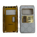 Gucci leather Cases Luxury Holster Covers for Nokia N8 - White