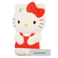 Hello kitty 3D Silicone Cases Skin Covers for iPhone 4G/4S - Red