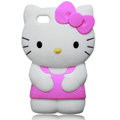 Hello kitty 3D Silicone Cases Skin Covers for iPhone 4G/4S - Rose