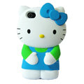 Hello kitty 3D Silicone Cases Skin Hard Covers for iPhone 4G/4S - Blue
