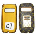 LV Louis Vuitton leather Cases Luxury Holster Covers for Nokia C7 - Brown