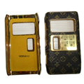 LV Louis Vuitton leather Cases Luxury Holster Covers for Nokia N8 - Black