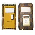 LV Louis Vuitton leather Cases Luxury Holster Covers for Nokia N8 - Brown