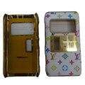 LV Louis Vuitton leather Cases Luxury Holster Covers for Nokia N8 - White