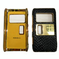 Leather Cases Luxury Holster Covers for Nokia N8 - Black