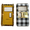Leather Cases Luxury Holster Covers for Nokia N8 - White