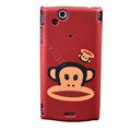 Paul Frank Scrub Hard Cases Covers for Sony Ericsson Xperia Arc LT15I X12 LT18i - Red