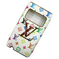 LV Louis Vuitton leather Cases Luxury Holster Covers for Nokia N8 - White EB002