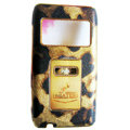 Leopard LV Louis Vuitton leather Cases Luxury Holster Covers for Nokia N8 - Brown