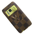 Luxury LV Louis Vuitton leather Cases Holster Covers for Nokia N8 - Brown
