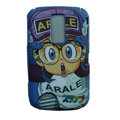 Cartoon Arale Scrub Hard Skin Cases Covers for Blackberry 9000 - Blue