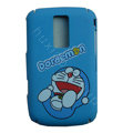 Cartoon Doraemon Scrub Hard Skin Cases Covers for Blackberry 9000 - Blue