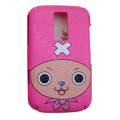 Cartoon Gril Scrub Hard Skin Cases Covers for Blackberry 9000 - Pink