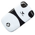 Cartoon Panda Hard Case Skin Covers For BlackBerry Curve 8520 9300 - Black
