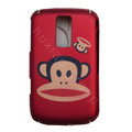 Cartoon Paul Frank Scrub Hard Skin Cases Covers for Blackberry 9000 - Red
