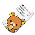 Cartoon Rilakkuma Hard Case Skin Covers For BlackBerry Curve 8520 9300 - Orange
