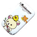 Cartoon Rilakkuma Hard Case Skin Covers For BlackBerry Curve 8520 9300 - White