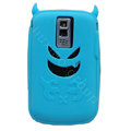 Devil TPU Soft Skin Silicone Cases Covers for Blackberry Bold 9000 - Blue
