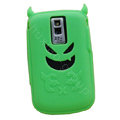 Devil TPU Soft Skin Silicone Cases Covers for Blackberry Bold 9000 - Green