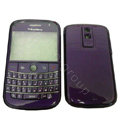 Front and Back Housing With Keypad Fullset Covers for Blackberry Bold 9000 - Purple
