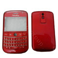 Front and Back Housing With Keypad Fullset Covers for Blackberry Bold 9000 - Red