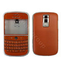 Front and Back Housing With Keypad Fullset Leather Case for Blackberry Bold 9000 - Orange