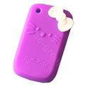 Hello kitty TPU Soft Skin Cases Covers For BlackBerry Curve 8520 9300 - Rose