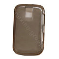 High transparency Soft Silicone Cases Cover for Blackberry Bold 9000 - Gray